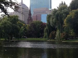 Boston's Arlington Street Church, Lake & Foliage