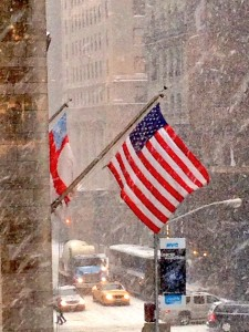 American Snowstorm on Fifth Avenue