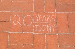 Sidewalk Chalk Writing