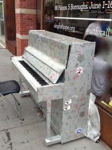 Sing for Hope Piano in SoHo