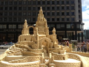Sand Castle masterpiece by Matt Long at Water Street POPS! 2013