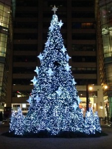 One of my favorites each year: The Bloomberg Tower Christmas Tree