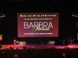 Honoring Barbra Streisand  for her film career at the 40th annual Chaplin Award at the Film Society of Lincoln Center in 2013 was an incredibly memorable evening