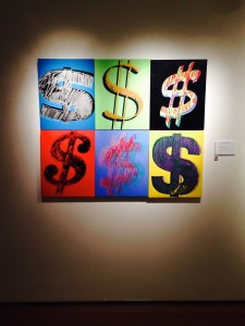 "From Andy Warhol's ""Dollar Signs"" series.  This one hangs in Christie's in Rockefeller Center"