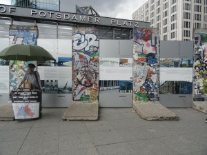 Remnants of the Berlin Wall in Potsdamer Platz, Berlin